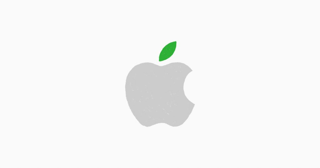 apple logo green gerecycled